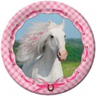 Horse Party Supplies, Heart My Horse Dinner Plates