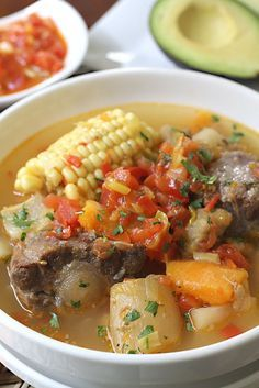 This symbolizes a traditional Latin American soup that her Grandma makes.