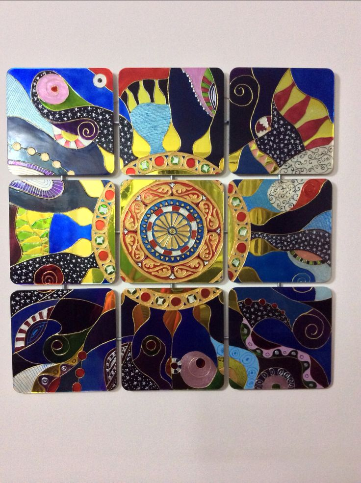 Glass painting: wall mirror | Glass painting | Pinterest