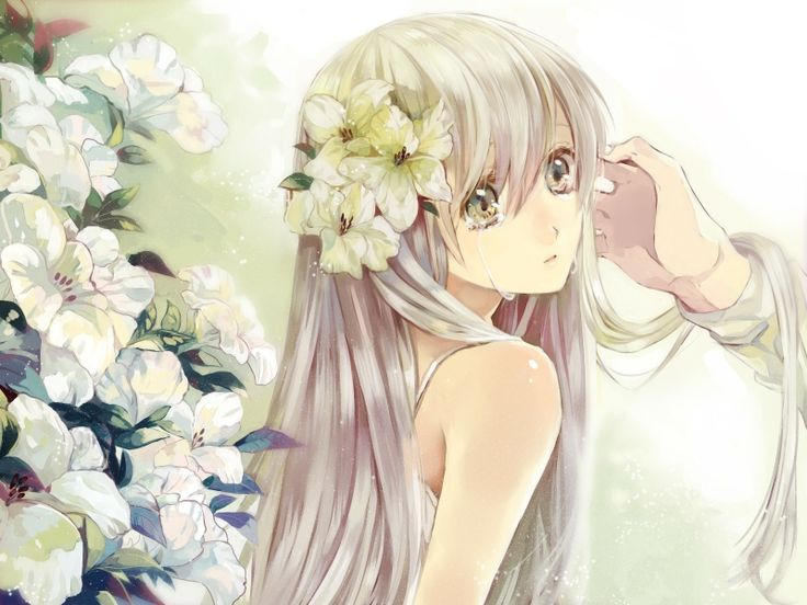 Anime Girl With Silver Hair And Green Eyes Pesquisa