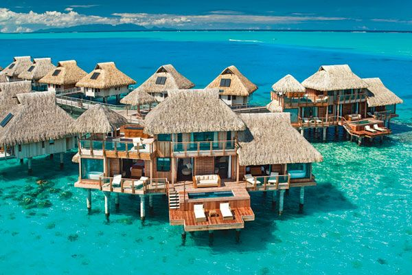 """Hilton Bora Bora Nui Resort - Where """"Something Blue"""" is part of the package."""