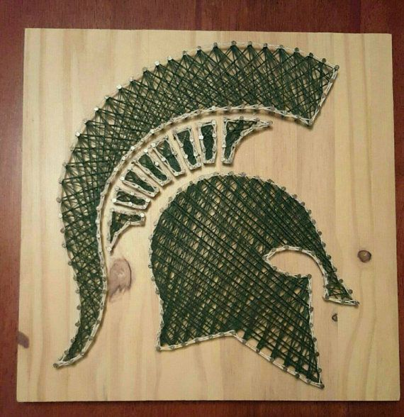 Officially Licensed MSU Spartan string art for fan-Michigan state University…