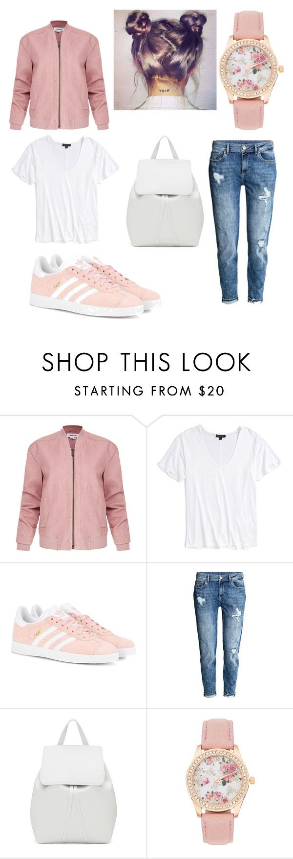 """Untitled #1"" by elizabeth-sulanova ❤ liked on Polyvore featuring Helmut Lang, Topshop, adidas Originals and Mansur Gavriel"