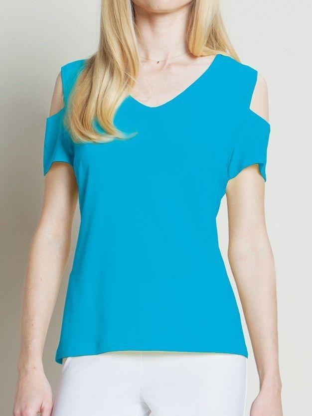 Something You - Clara SunWoo Open Shoulder V Neck Top - Turquoise - T201turq, $72.50 (http://www.somethingyou.com/new/clara-sunwoo-open-shoulder-v-neck-top-turquoise-t201turq/)