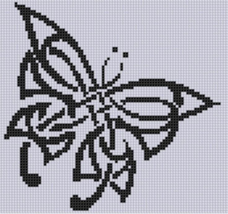 Celtic Butterfly Cross Stitch Pattern