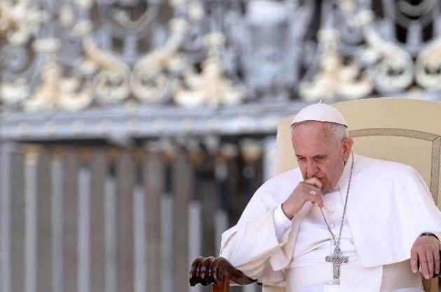 Papa Francisco durante audiência na Praça São Pedro