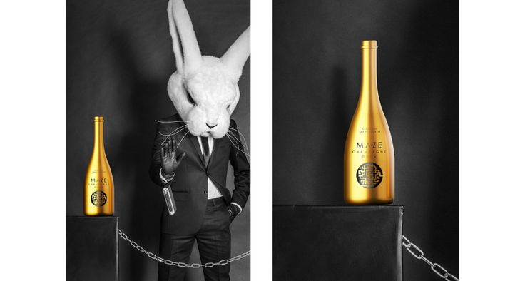 Not a young rabbit anymore. Need to drink in style