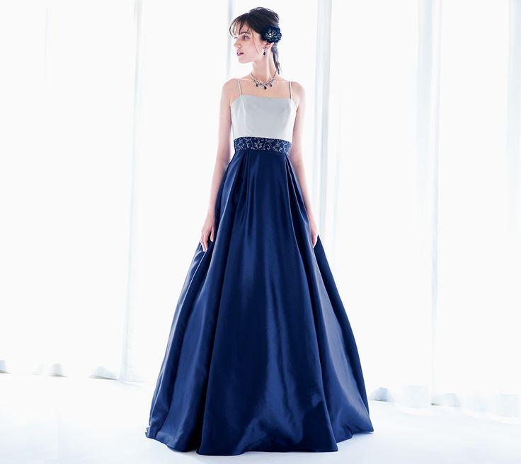 ステージドレスコレクション(Aライン、ロングドレス、バイカラー) 特別な日のドレスブランドAIMER(エメ)
