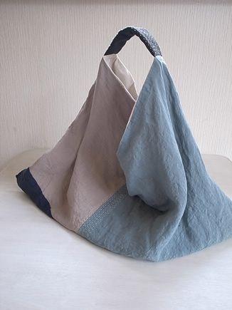 刺し子のbag ビッグバッグ 郷愁のブルー