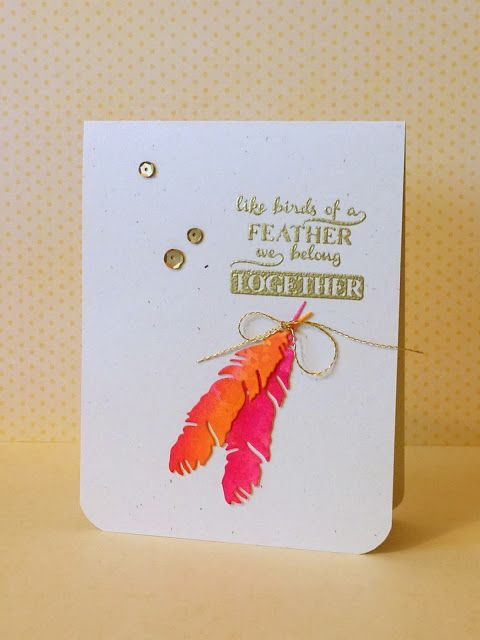 Ink distressed feathers