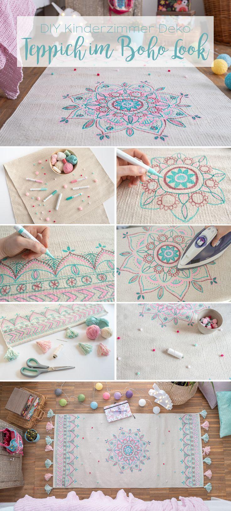 DIY Teppich im Boho Look für das Kinderzimmer mit