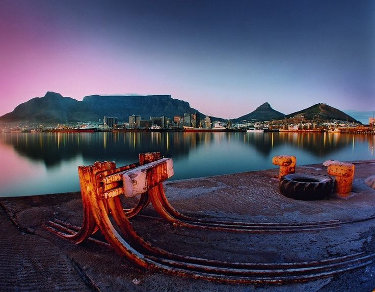 Cape Town Harbour by Obie Oberholzer