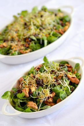 Egyszerű diós saláta
