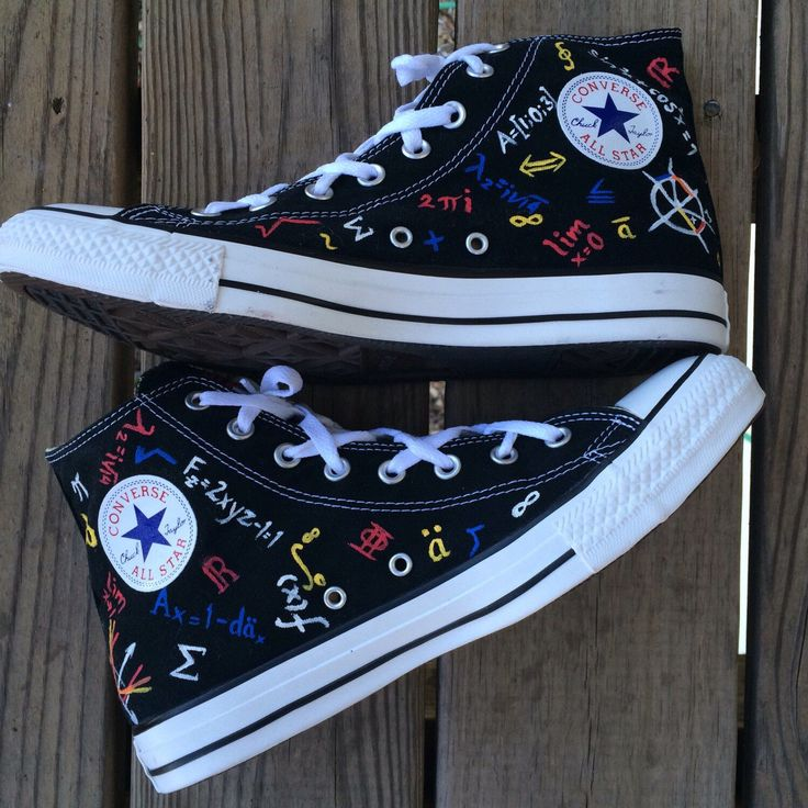 Actuary Science Converse High Top Converse with Math Equations by IntellexualDesign on Etsy https://www.etsy.com/listing/179864869/actuary-science-converse-high-top