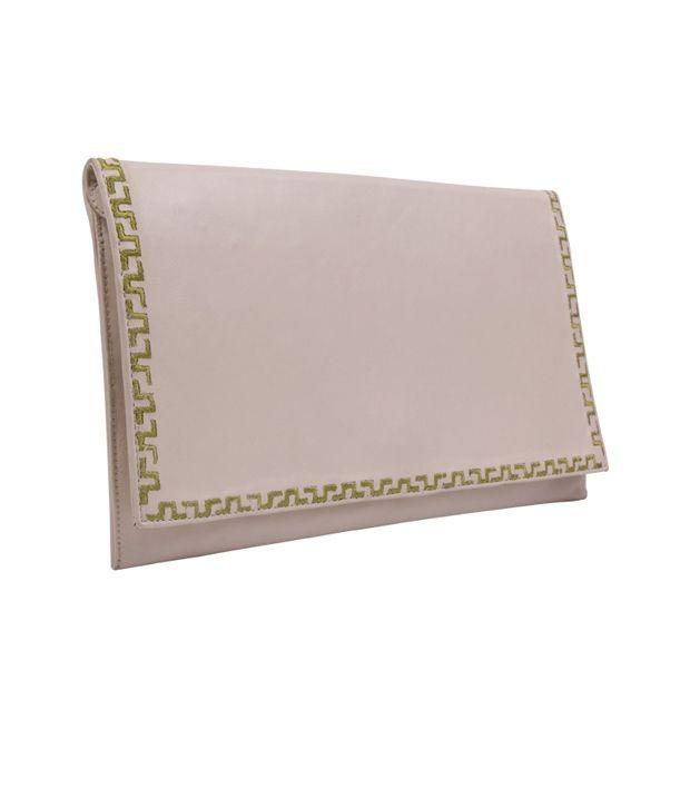 Stylogy Handbook Ivory Leather Clutch