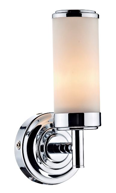 Bathroom Wall Lights Pull Cord Switch : The Century single bathroom wall light has a polished chrome finish with pull cord on/off switch ...