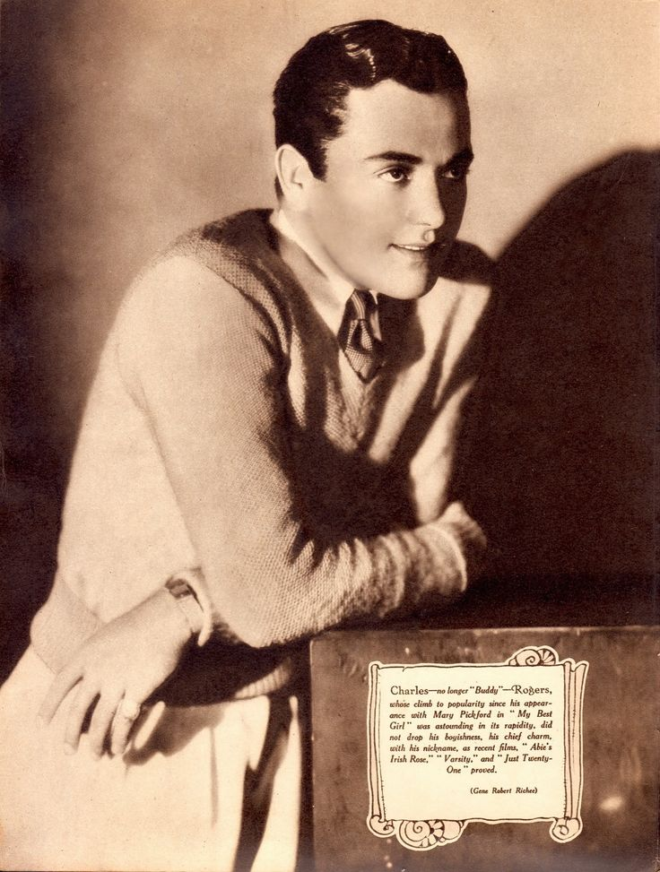 """CHARLES Buddy ROGERS will always be """"Buddy"""" to me. Picture Show Annual 1930 (please follow minkshmink on pinterest) #charlesbuddyrogers #charlesrogers"""