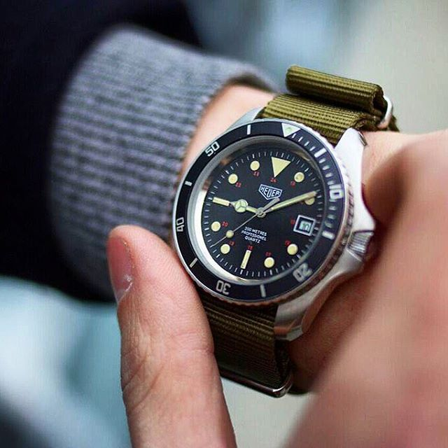 17 best images about vintage dive sport and collectible watches on pinterest tag heuer deep - Heuer dive watch ...