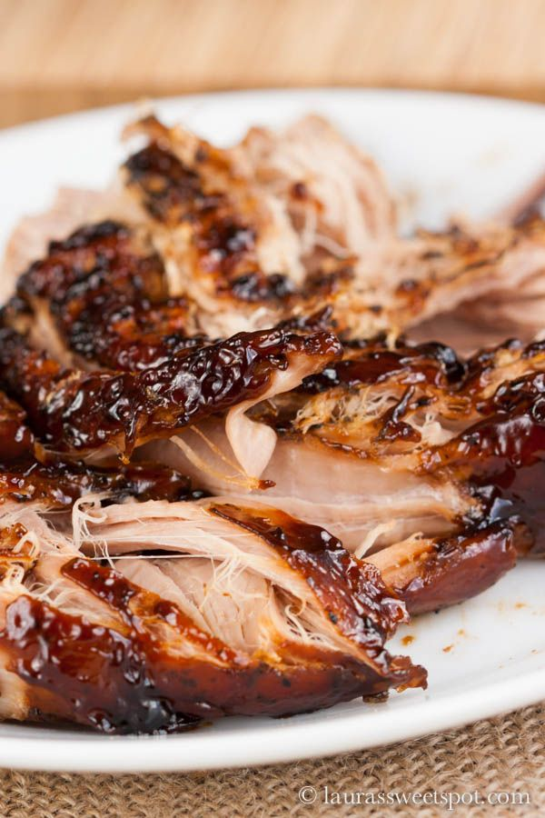 Crockpot Brown Sugar and Balsamic Glazed Pork Tenderloin by laurassweetspot #Pork_Tenderloin #Crockpot