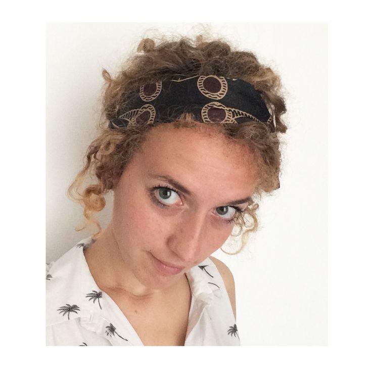 ▲ TOUBA ▲ Bandeau noeud, rétro, tissus motif africain (wax) noir, beige et bordeaux , head band, bandeau noué, : Accessoires coiffure par elora