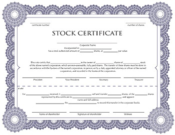 Pinterest the world s catalog of ideas for Stock certificate template microsoft word