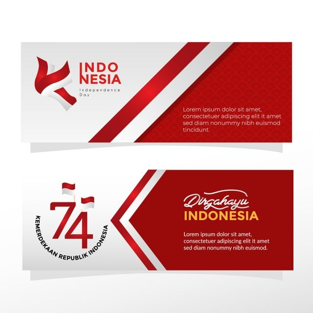 Banner Templates For Indonesia Independence Celebration Dengan