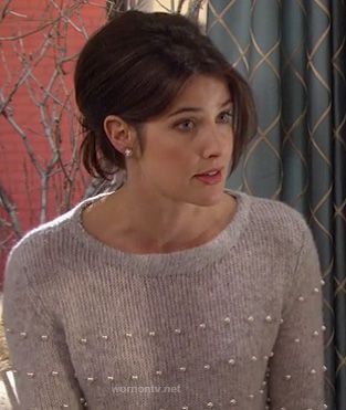 I like everything about this.  Robin's Band of Outsiders sweater with pearls on How I Met Your Mother.