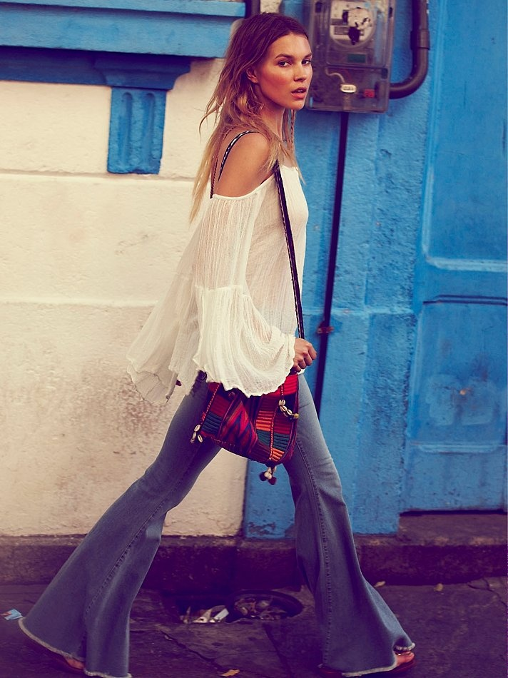 Free People Denim Super Flare, 68.00    those pants I want to get some bell bottoms. online are too expensive. Make some????