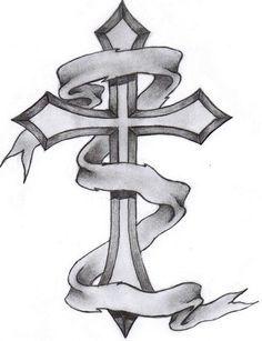 cross tattoos for men | Gothic cross tattoo drawing and wings cross tattoo drawing. - Peg It ...
