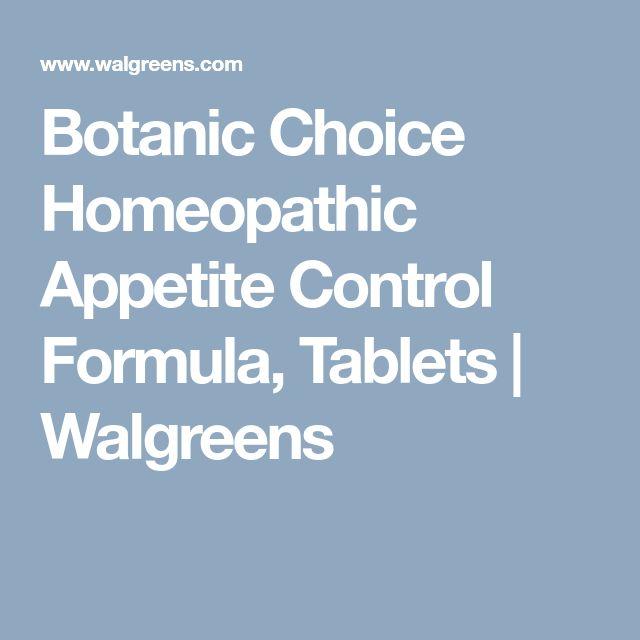 Botanic Choice Homeopathic Appetite Control Formula, Tablets   Walgreens