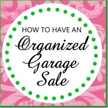 Very good tips for a yardsale