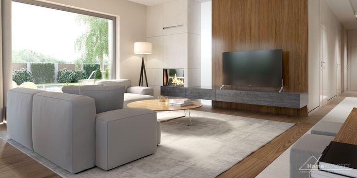 Fotos de salones de estilo moderno de homekoncept | projekty domów nowoczesnych | homify