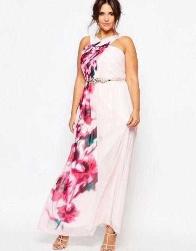 шифоновое платье для вечернего выхода женщины с полной фигурой летом