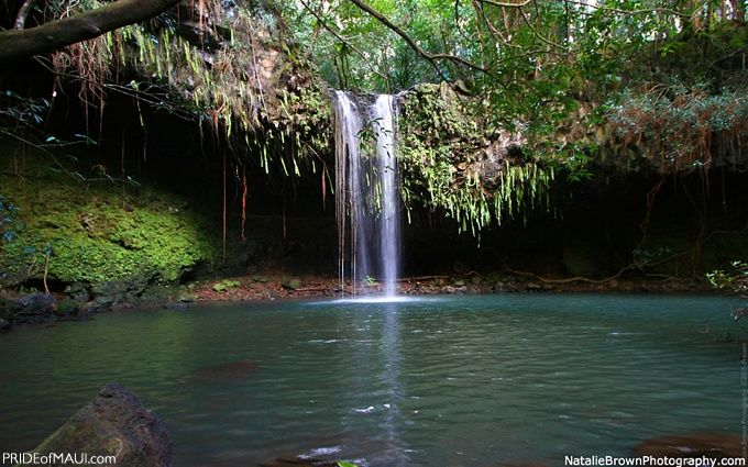 Twin Falls  is located just a 20 minute drive East from the Historic Town of Paia on Maui's North Shore.