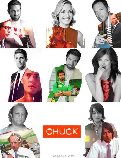 Chuck cast :) This is very cool   -- zippora art