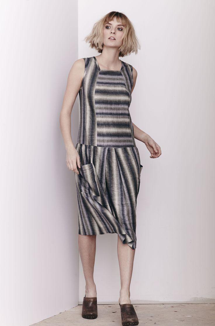 Linen Stripe Tatum Dress  www.comrags.com