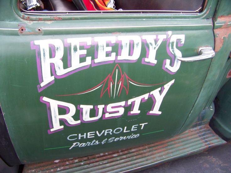 Reedy S Rusty Door Art Truck Lettering Door Letters