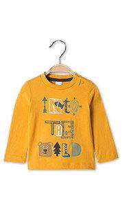 T-shirt bébé à m. longues en coton bio in jaune