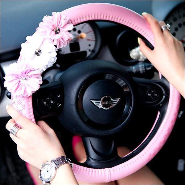Car Auto Steering Wheel Cover Plush Elastic Interior Decor 37-38cm Replacement