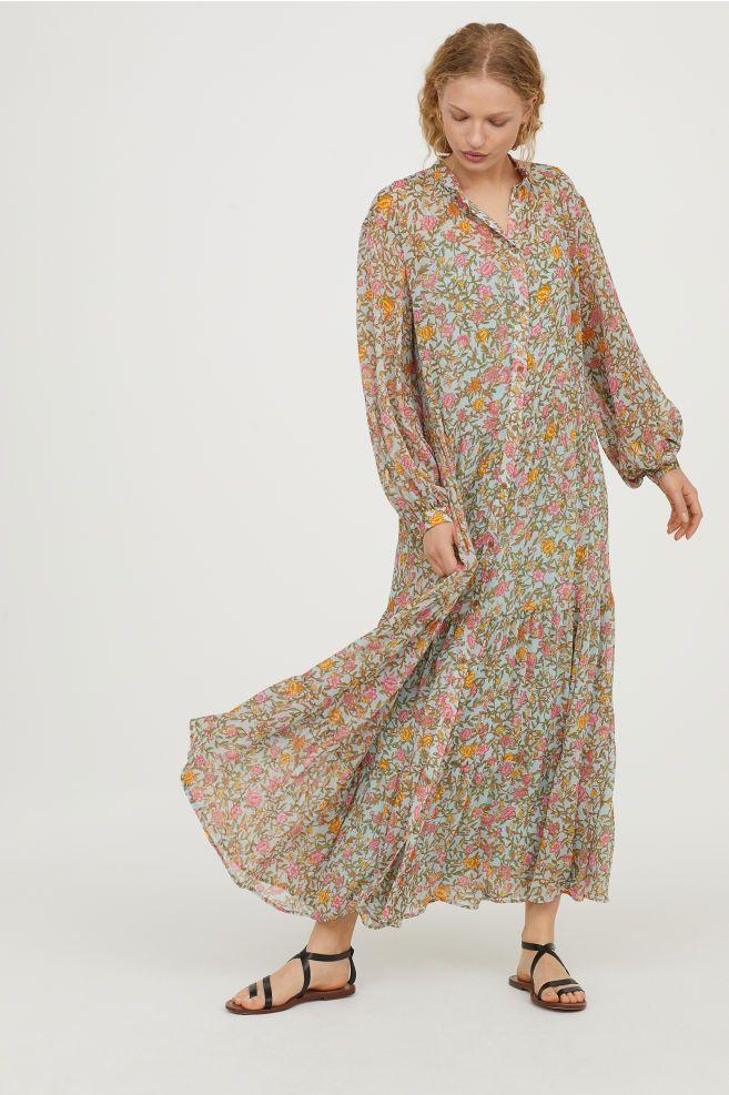 f10b171acc77d Crinkled long dress | Macbeth p/t 2 film/tv | Casual frocks, Fashion ...
