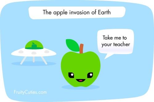 Alien apple fruit jokes fruity cuties chistes de - Fruity cuties jokes ...