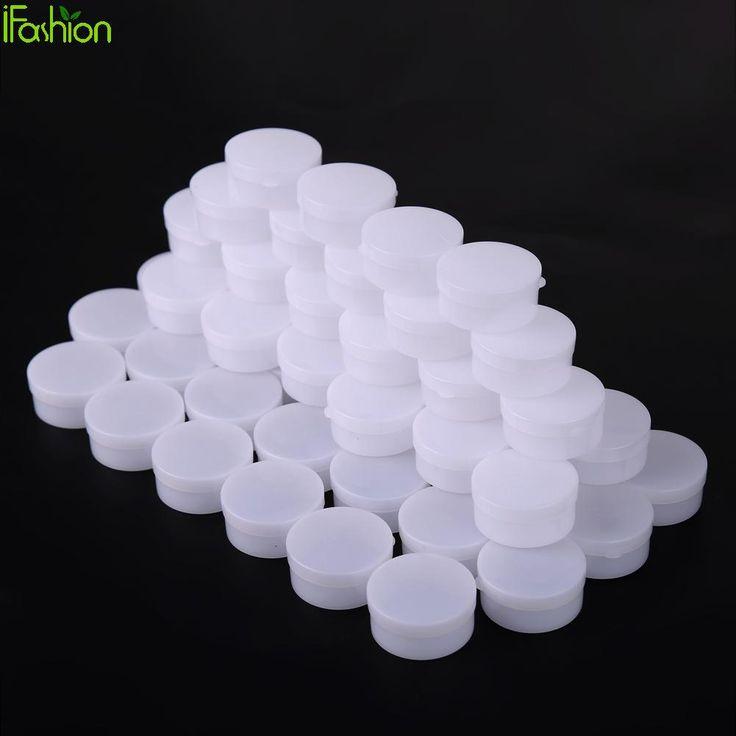 50pcs 20g Empty Cosmetic Jar Pot Cosmetic Cream Box Eyeshadow Face Cream Container Box Medical Plastic envases plastico con tapa