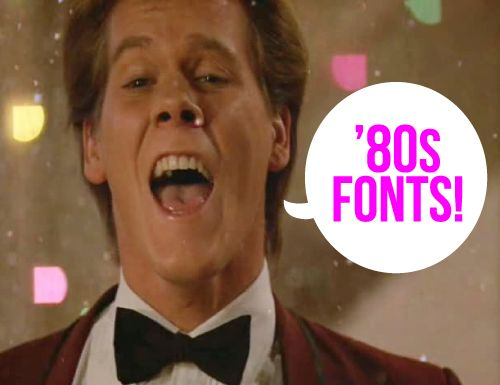 80s Fonts  ~~ {7 Free fonts w/ easy links to download} from Design Editor