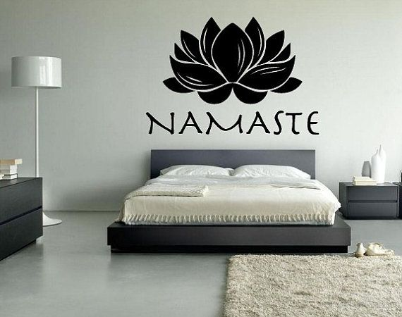 lotus namaste wall or car vinyl decal custom size and