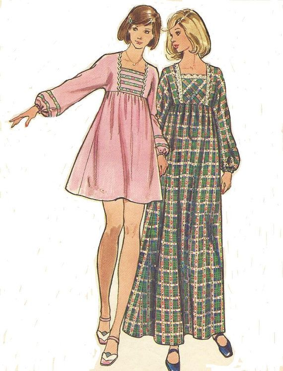 1970s Butterick Sewing Pattern 3035 Womens Mini or by CloesCloset