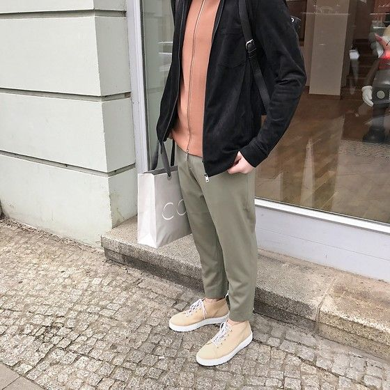 Get this look: http://lb.nu/look/8702635  More looks by Vadim Styles: http://lb.nu/vadimstyles  Items in this look:  H&M Jacket, Cos High Neck Cardigan, Cos Trousers, Dr. Martens Sneakers   #casual #classic #minimal