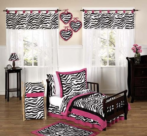 Hot Pink Zebra Bedding For Toddlers