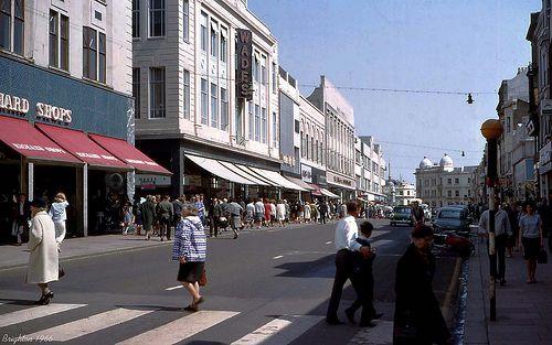 Brighton, Western Road in 1966