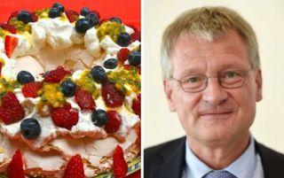 Planet Stars: Έριξαν τούρτα στον πρόεδρο του γερμανικού ξενοφοβι...