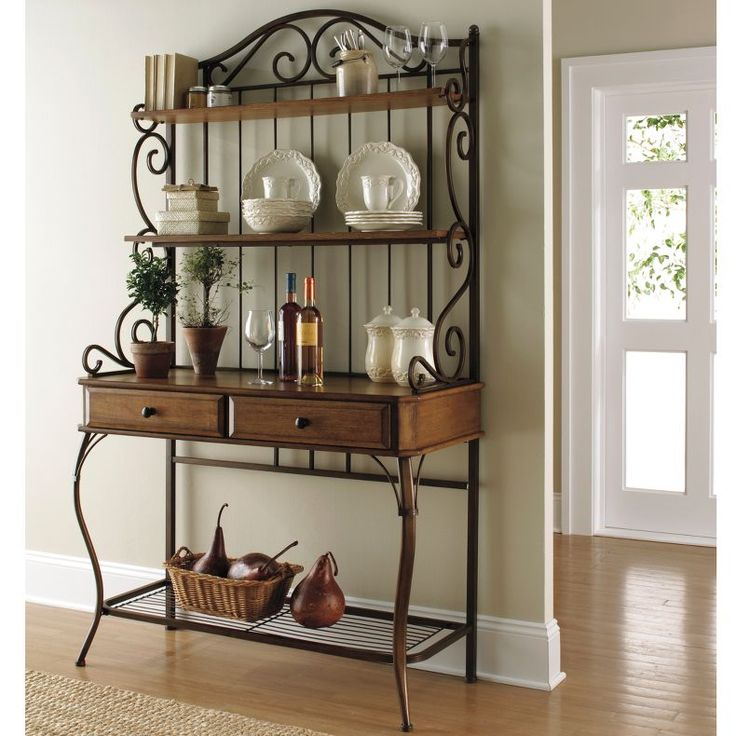 Kitchen Bakers Rack Wood Ideas